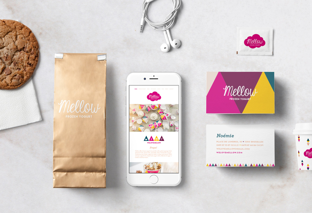 mellow full rebranding and packaging by studio fiftyfifty graphic design agency brussels belgium