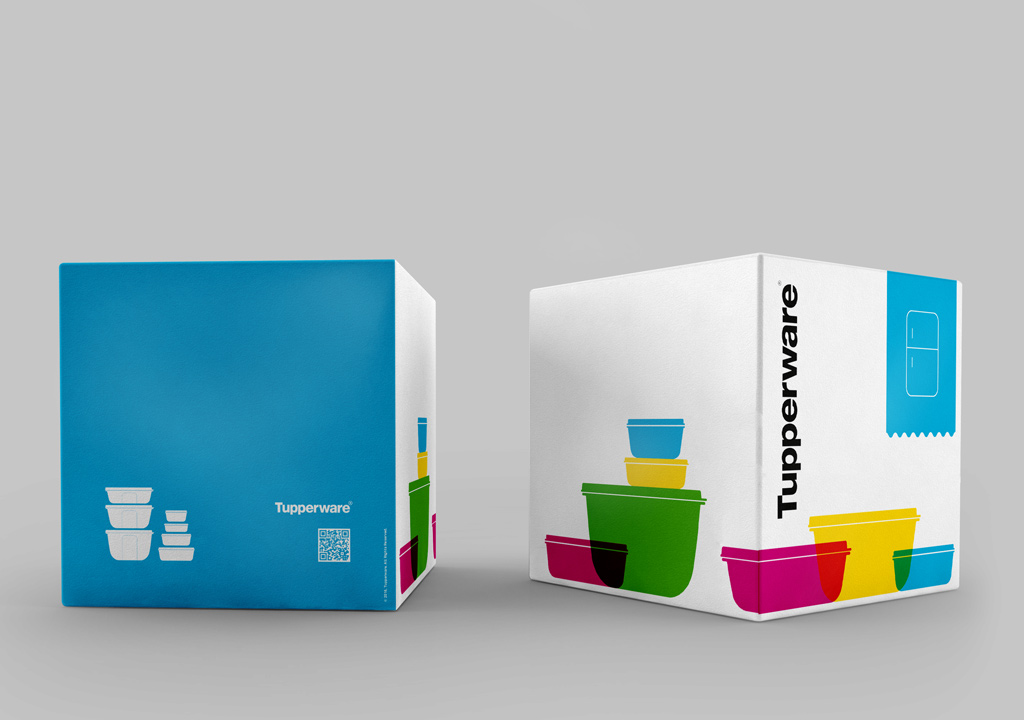 tupperware packaging made by the communication and graphic design company studio fiftyfifty based in Brussels, Belgium.