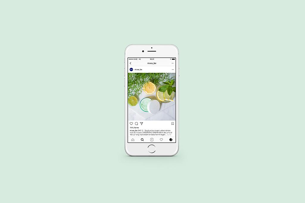 photographie, social media, marketing de contenu pour Nivea par l'agence de communication Studio fiftyfifty
