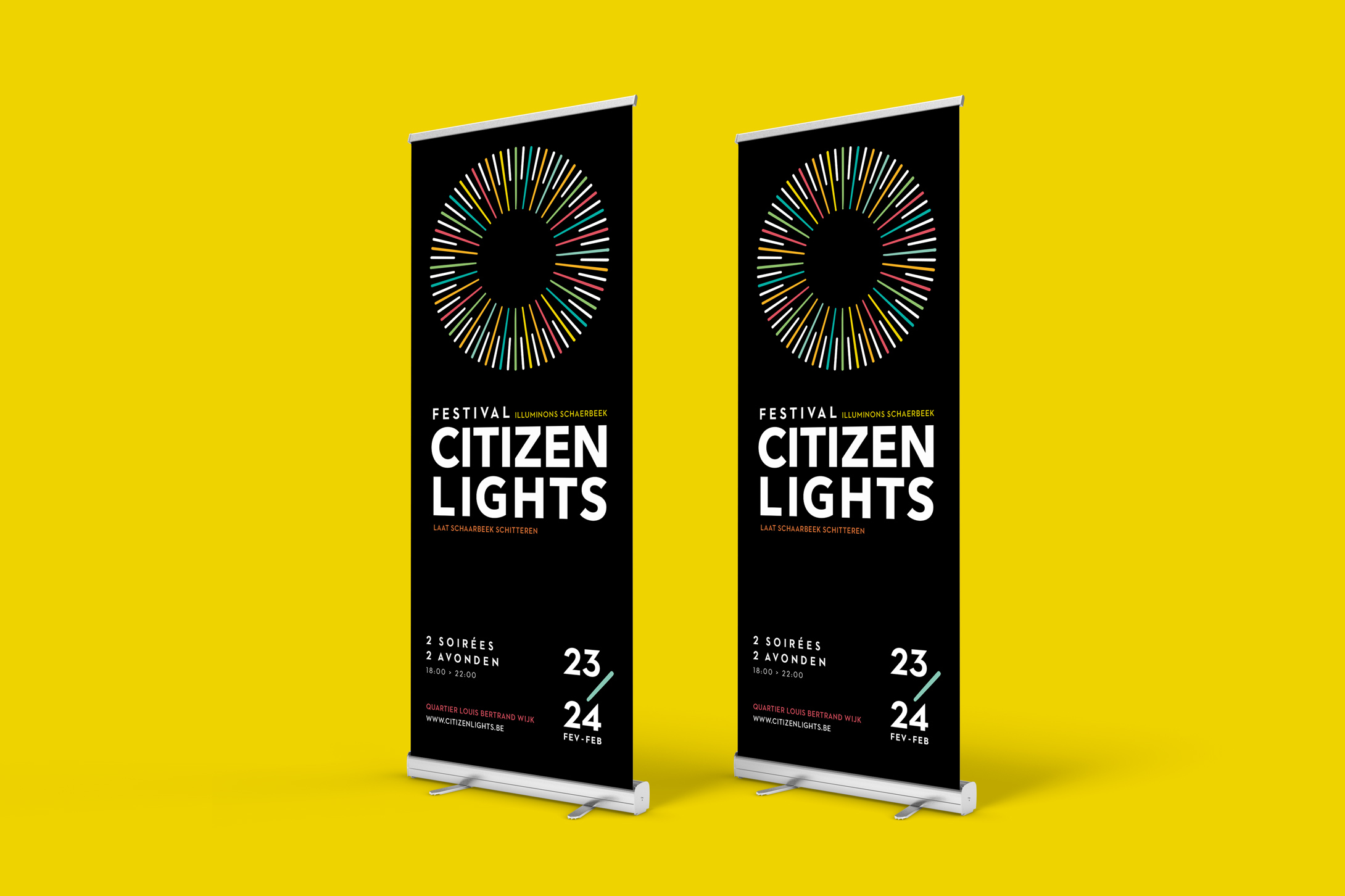brussels festival, schaerbeek festival, light festival, citizen lights, communication campaign, studio fiftyfifty