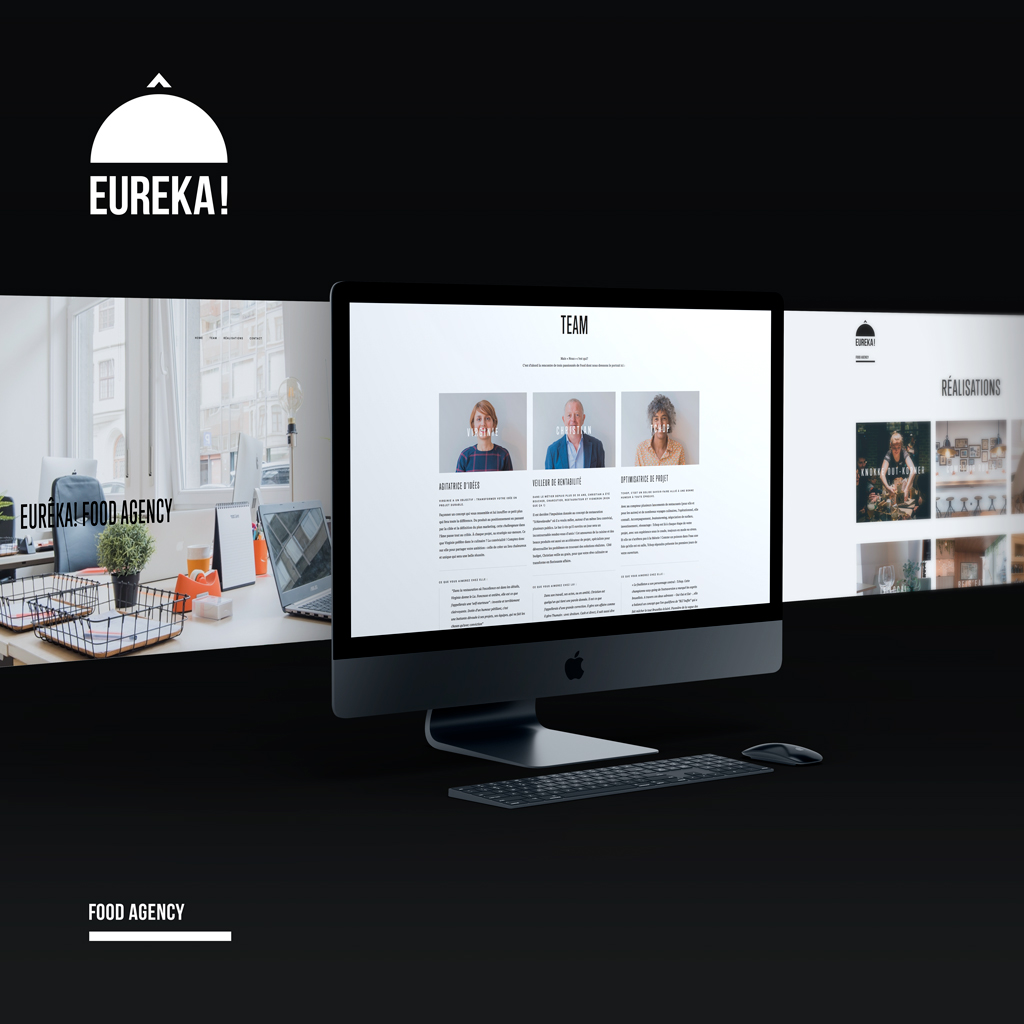 Eureka food agency, studio fiftyfifty, agence de graphisme et de communication bruxelles, communication agency brussels, webdesign, food agency