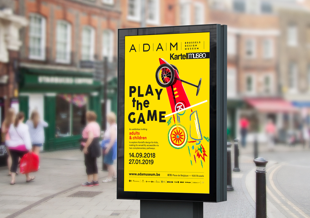 graphic design, print, stationary, photography pour ADAM brussels design museum par studio fiftyfifty