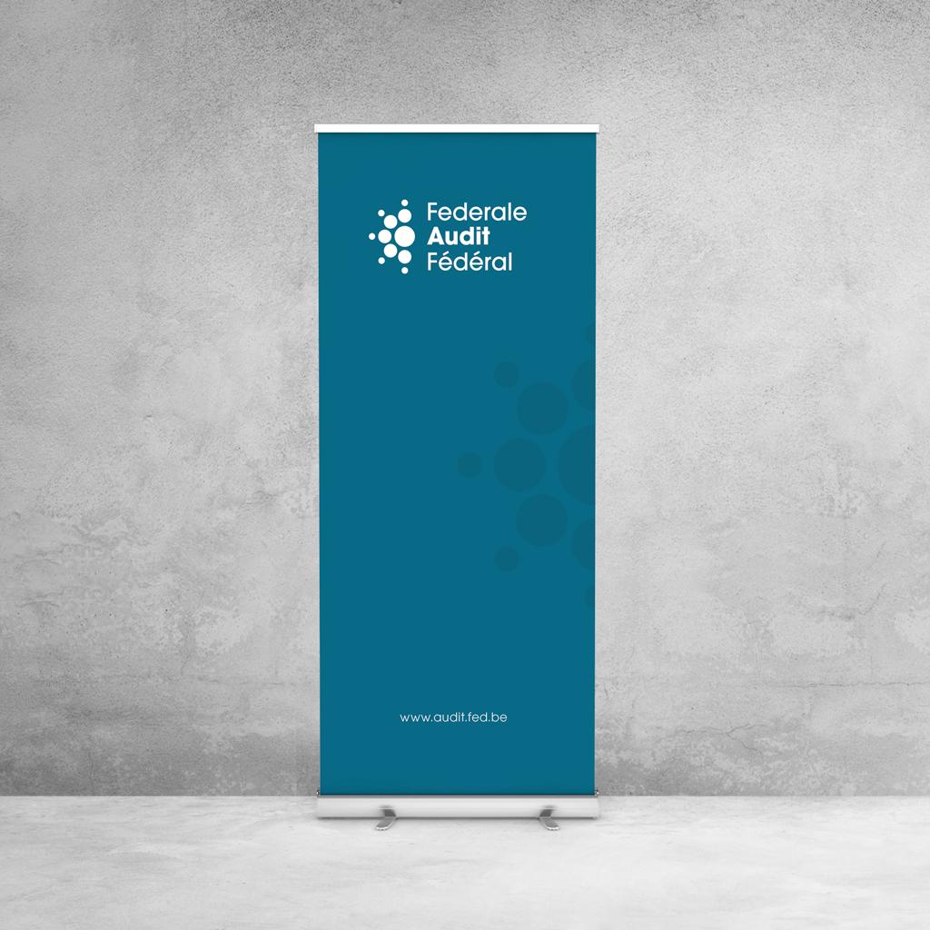 corporate branding, identité de marque, print pour l'audit fédéral, par studio fiftyfifty, agence de graphisme