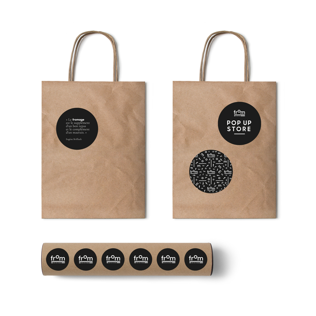 branding, photographie, graphic identity pour From comptoir, fromagerie à bruxelles par studio fiftyfifty