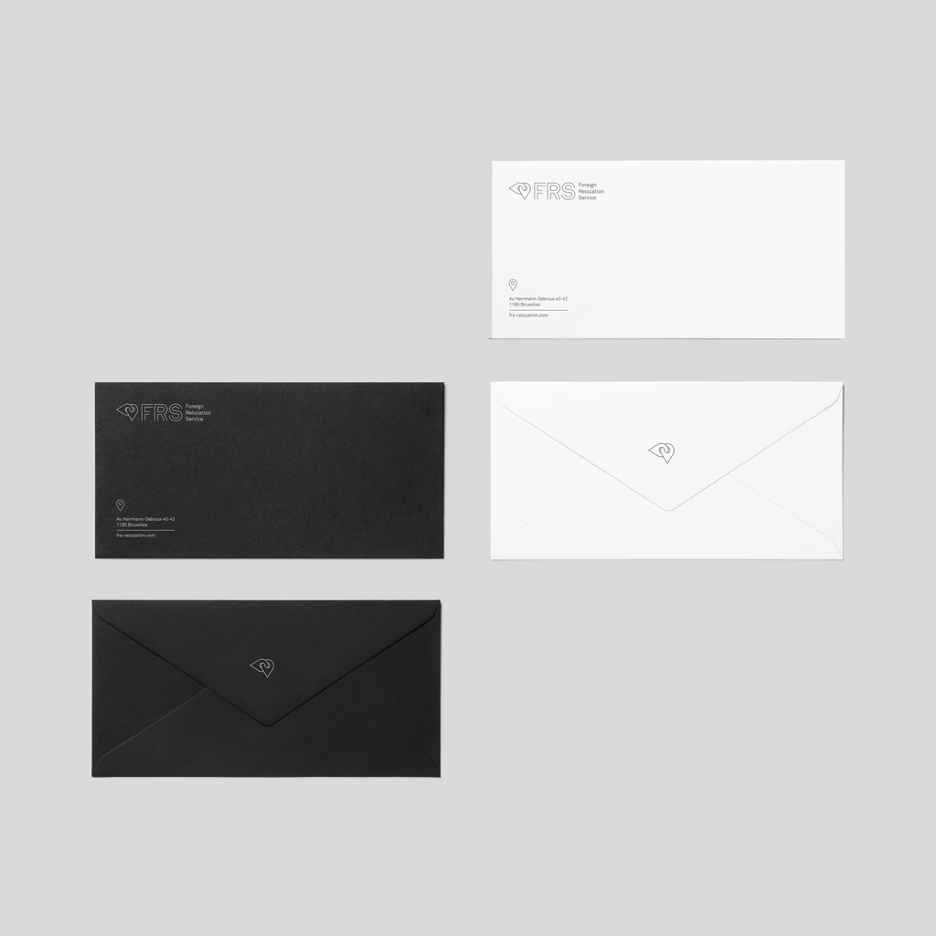 frs foreign relocation service belgium branding graphic identity by studio fiftyfifty